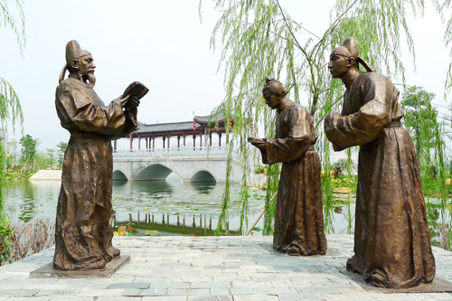 清远廉政公园雕塑